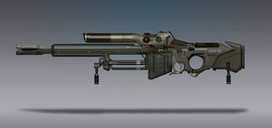 Commission Concept Art - Sniper Rifle