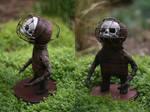 'Cage head' - Midget sculpture