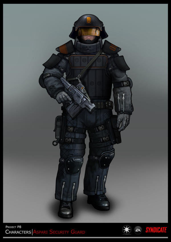 SYNDICATE concept - character guard by torvenius