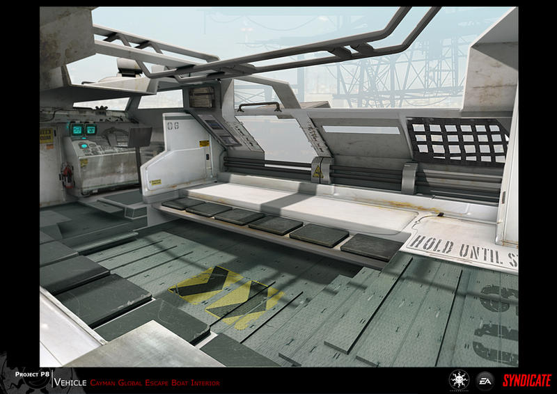 SYNDICATE concept - tactical boat interior by torvenius