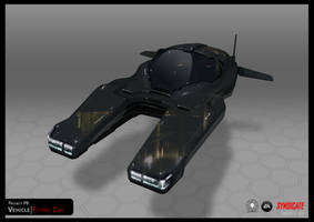 SYNDICATE concept - hover car black by torvenius
