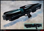 SYNDICATE concept - early weapon prototype concept