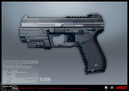 SYNDICATE concept - APP pistol