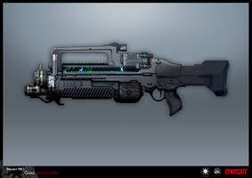 SYNDICATE concept - GAUSS rifle by torvenius