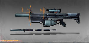 commissioned modual assault rifle concept art