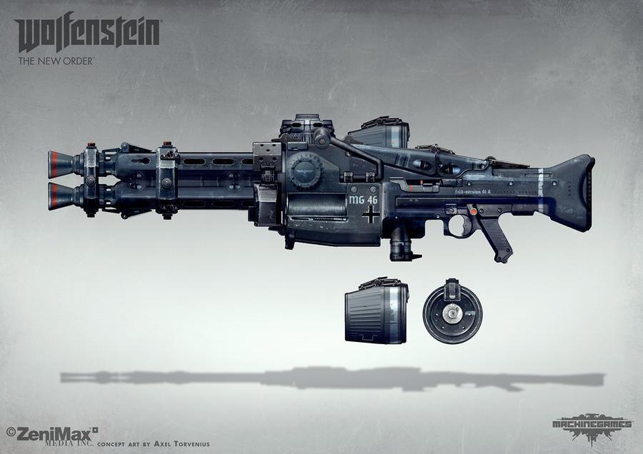 Wolfenstein: The New Order - MG 46 by torvenius
