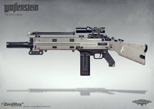 Wolfenstein: The New Order - AR Marksman rifle