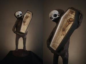 Midget Reed with mummified friend
