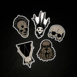 skull stickers collection