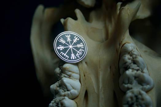 Vegvisir  icelandic talisman hard enamel pin