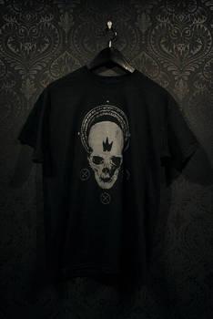 Black crown skull t-shirt