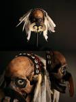 Ancestor KANANG - ASMAT headhunter trophy skull, m