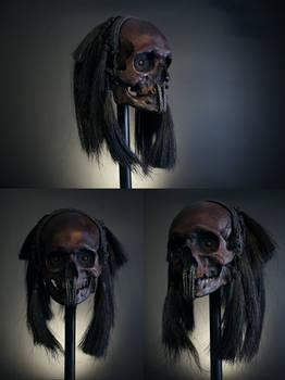 He walks at night - headhunter trophy skull