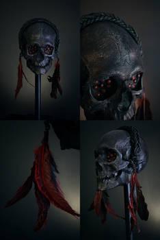 Red eyes - headhunter trophy skull