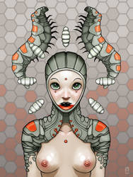 Caterpillar Girl by torvenius