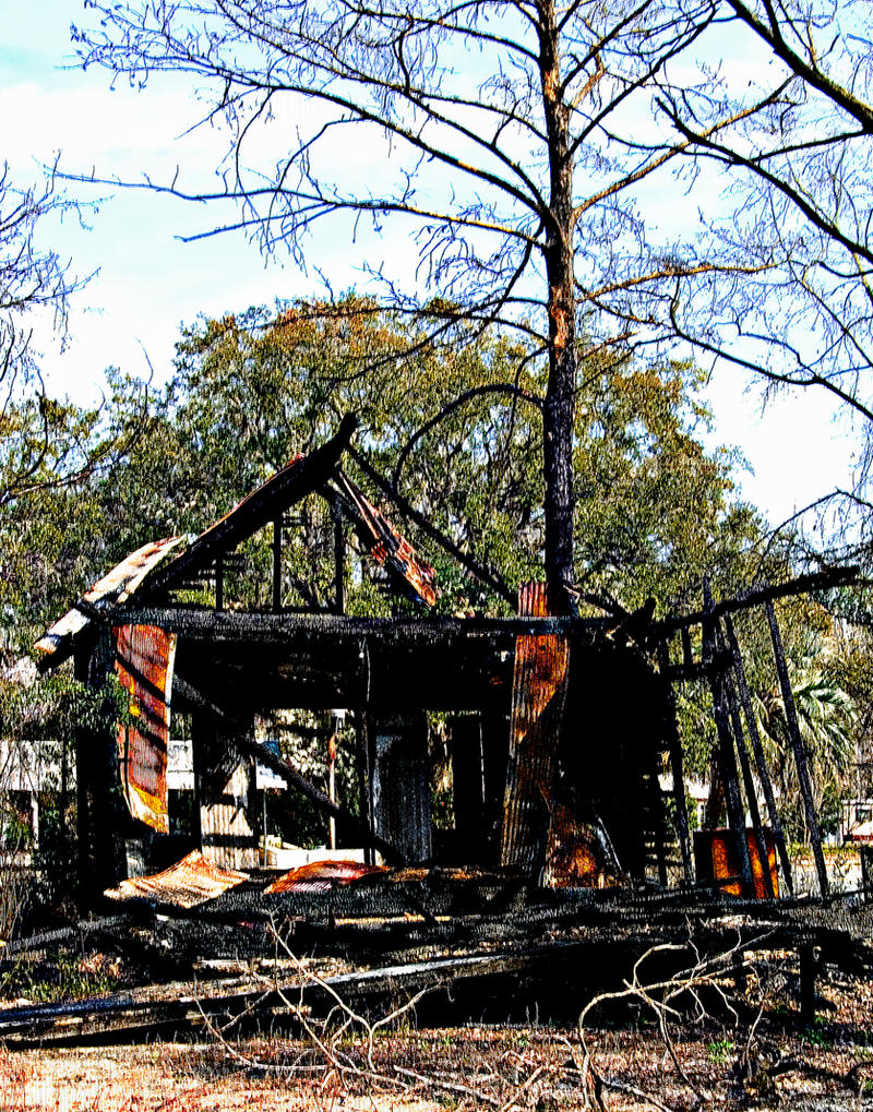 Burned Out House Monticello