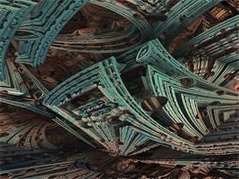 Amazing Box Race 06 - Mandelbulb 3D fractal by schizo604
