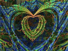 Pfauenauge - hippie heart - Mandelbulb 3D fractal by schizo604