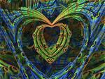 Pfauenauge - hippie heart - Mandelbulb 3D fractal