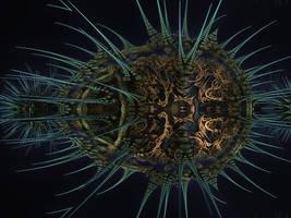 Amazing Box Platinum Bulb1 - Mandelbulb 3D fractal by schizo604