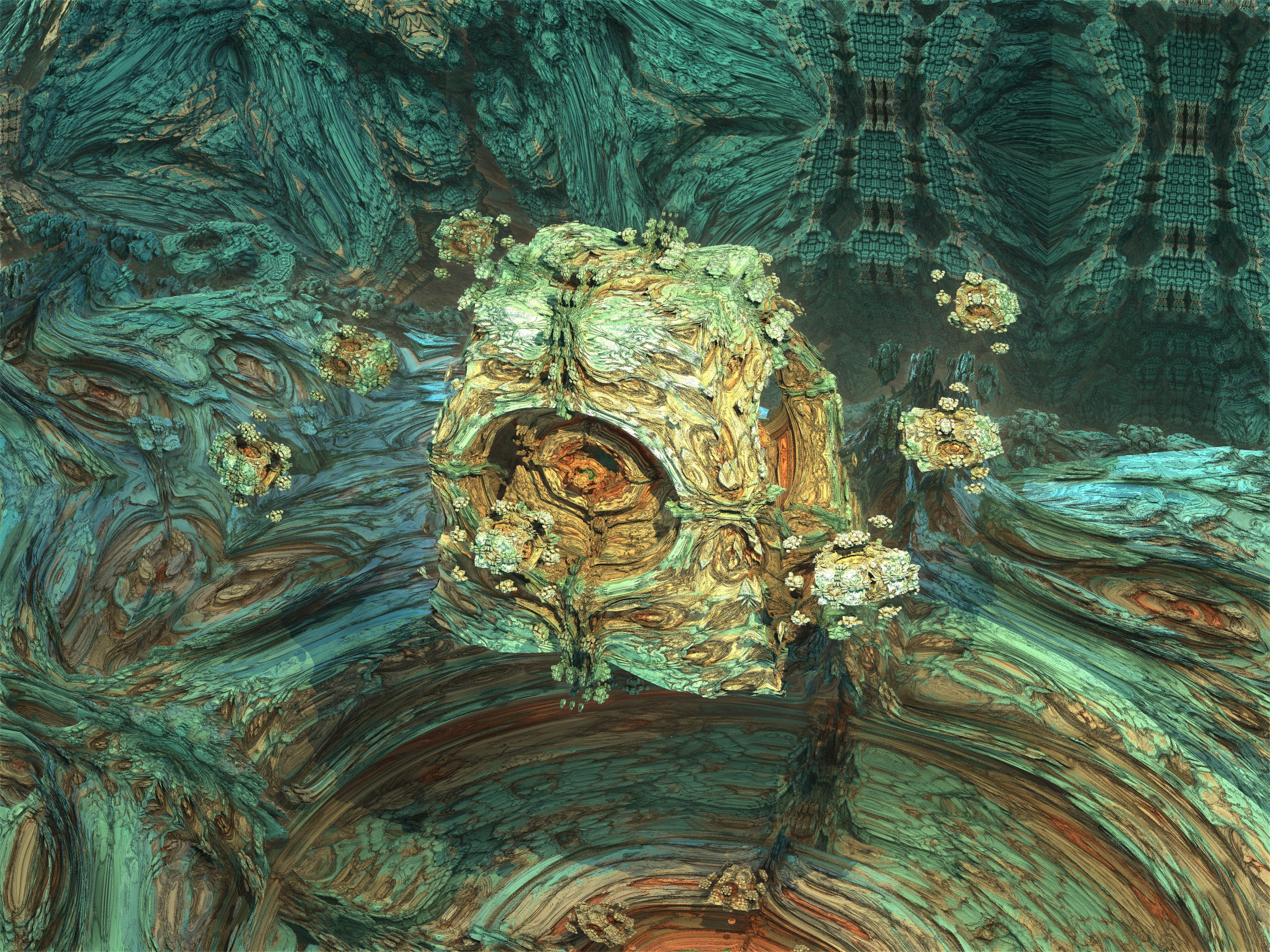 Corala-4Makin03 - Mandelbulb 3D fractal by schizo604