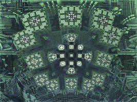 SurfCrossBox 2 - Mandelbulb 3D fractal by schizo604