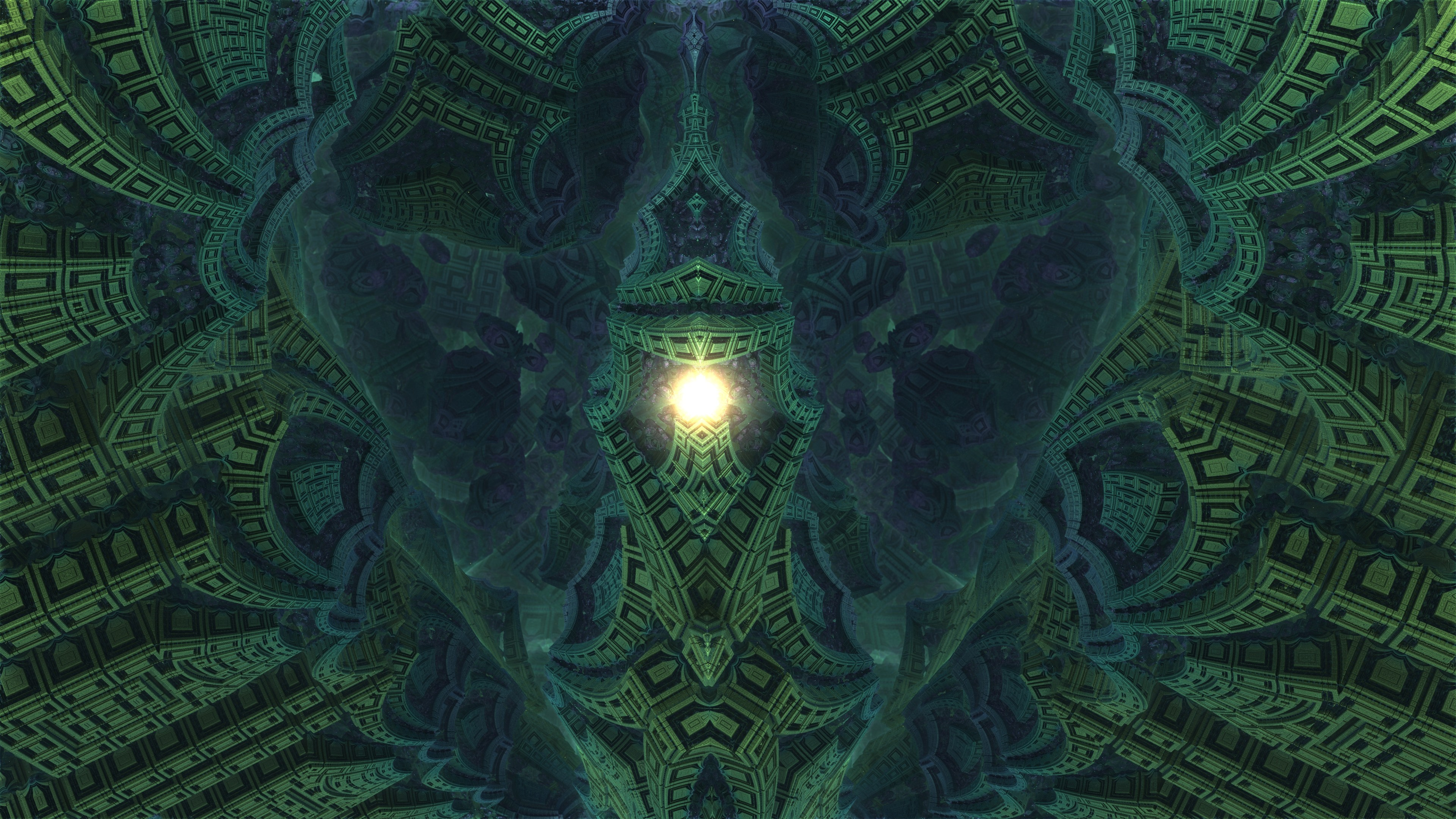 Descent into Fractal Core - Mandelbulb 3D fractal by schizo604