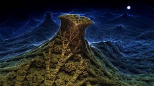 Full Moon Valley - Mandelbulb 3D fractal