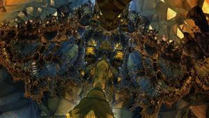 Golden Gates 3300 - The Pyrit Cave - Mandelbulb 3D by schizo604