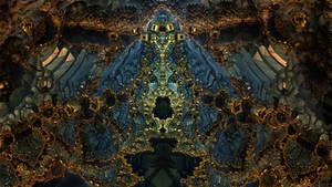 Golden Gates 3719 - Mandelbulb 3D fractal by schizo604