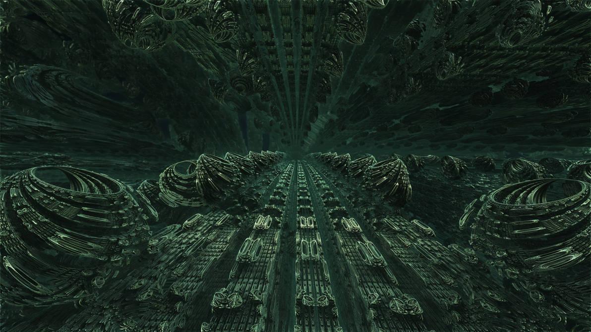 Fractal Omega Racer 1403 - Mandelbulb 3D fractal by schizo604