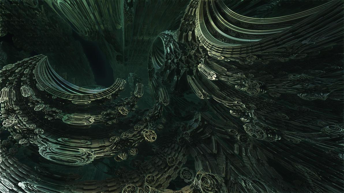 Fractal Omega Racer 1685 - Mandelbulb 3D fractal by schizo604