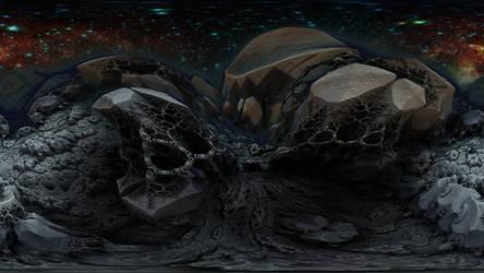 360 degree Fractal Death Valley 3326-Mandelbulb 3D