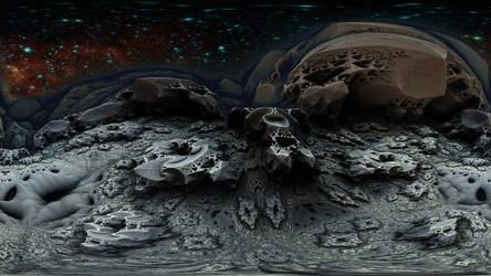 360 degree Fractal Death Valley 1214-Mandelbulb 3D