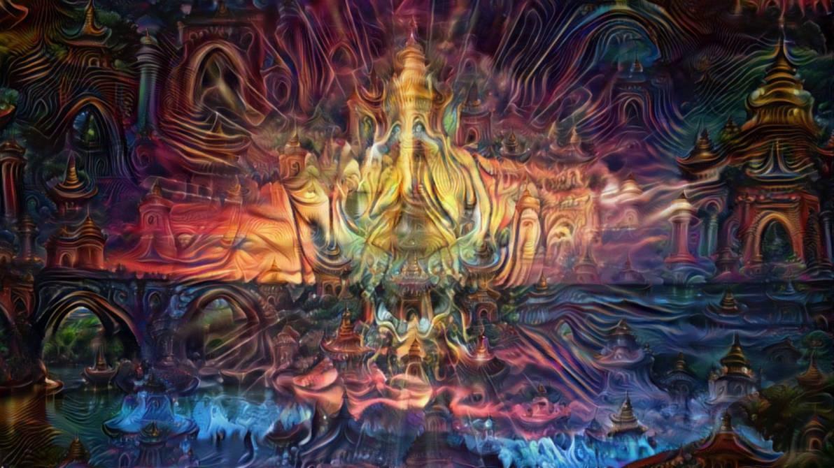 360 VR Trippy Sunset - Psychedelic DeepDream Trip by schizo604