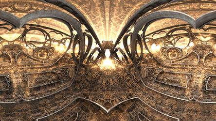 360 VR Fractal Canyon - Mandelbulb 3D fractal anim