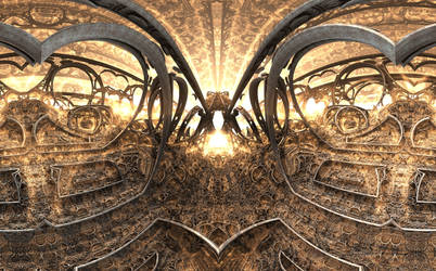 360 VR Fractal Canyon - Mandelbulb 3D fractal anim by schizo604