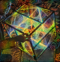 The Cube - Style Transfer Stringart