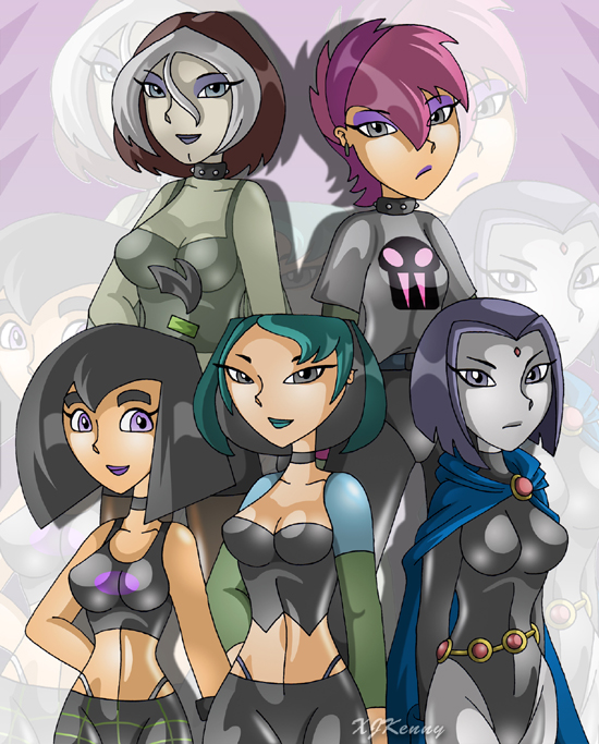 Goth Girls Group by XJKenny