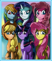 My Little Pony Group by XJKenny