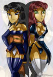 Blackfire and Starfire Cosplay