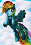 Rainbow Dash Dashing