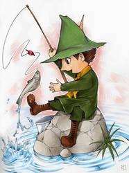 Fishing Snufkin by Tamasaburo09