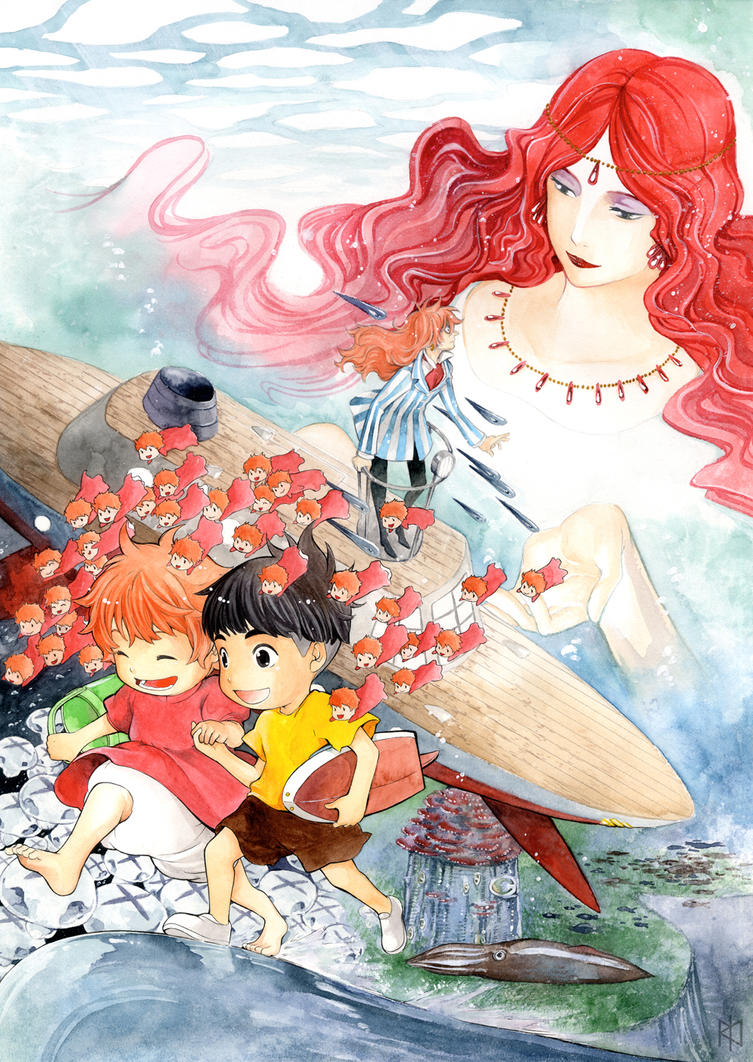 Ponyo by Tamasaburo09 on DeviantArt