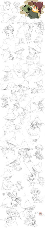 Jox and Snufkin sketches