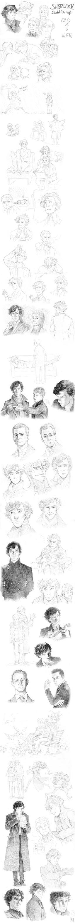 Sherlock Sketchdump by Tamasaburo09