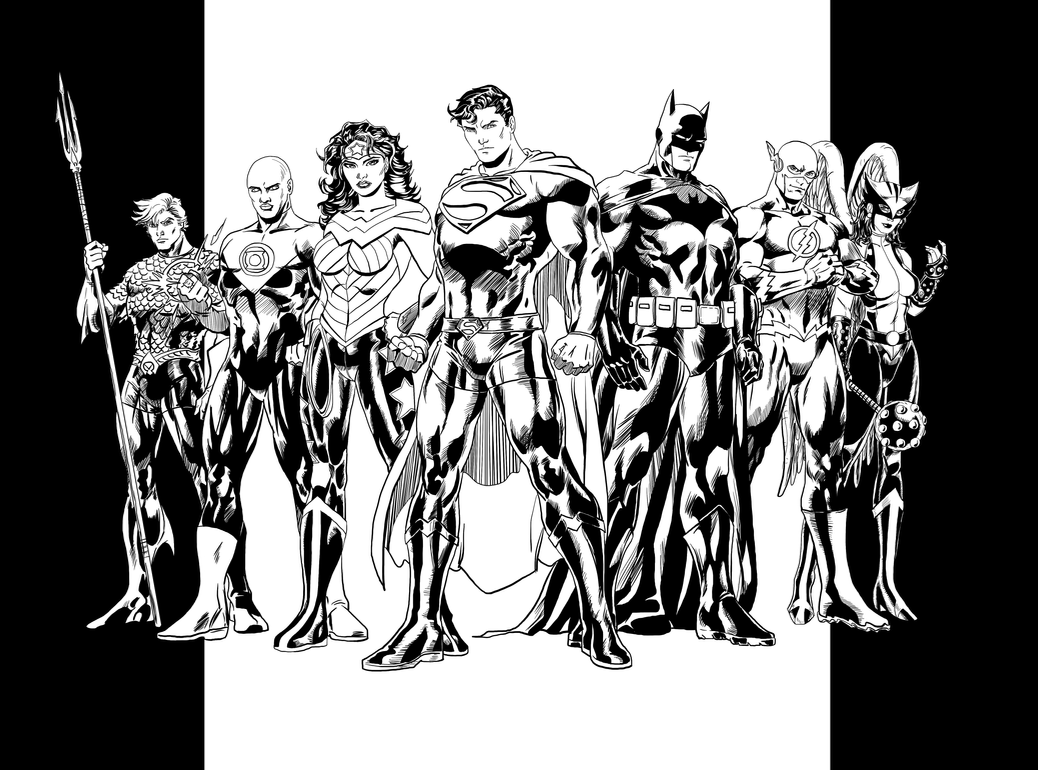 Jim Lee Justice League Retake - Inks by EarthmanPrime on DeviantArt