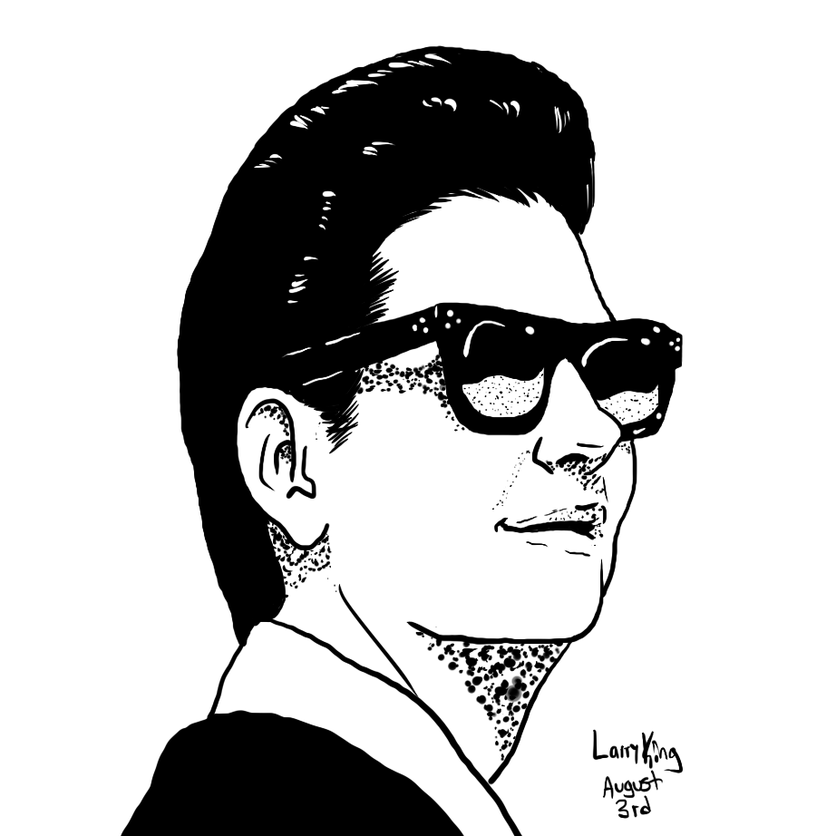 Image result for roy orbison black and white and red clipart