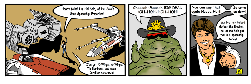 Hal Solo's Used Space Ship Emporium by EarthmanPrime