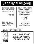 Lords of Kobol - Letters Page